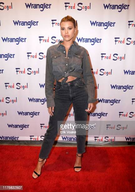 "Sofia Richie attends ""A Ride Through the Ages"" Wrangler Capsule Collection Launch at Fred Segal Sunset at Fred Segal on September 19 2019 in Los..."