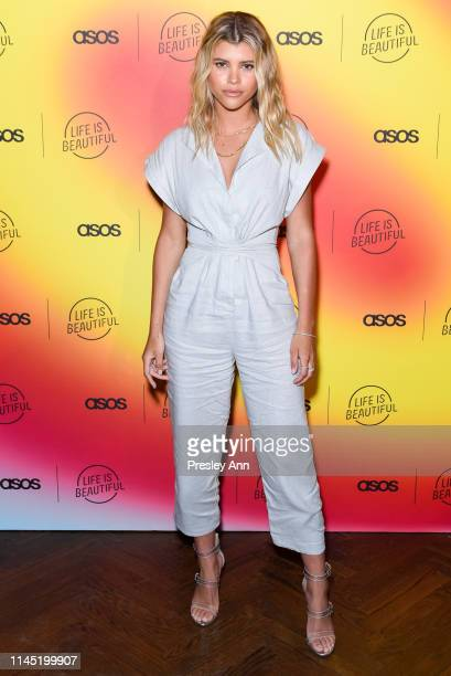 Sofia Richie attends ASOS celebrates partnership with Life Is Beautiful at No Name on April 25 2019 in Los Angeles California
