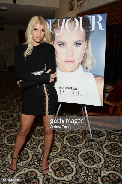 Sofia Richie attends DuJour's Jason Binn And WellNEST Celebrate Miami Beach's Art Basel KickOff at The Confidante on December 6 2017 in Miami Beach...