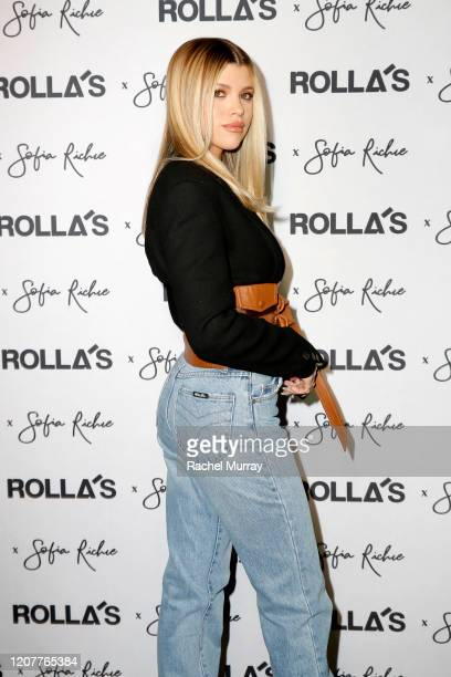 Sofia Richie attends Rolla's x Sofia Richie Launch Event at Harriet's Rooftop on February 20 2020 in West Hollywood California