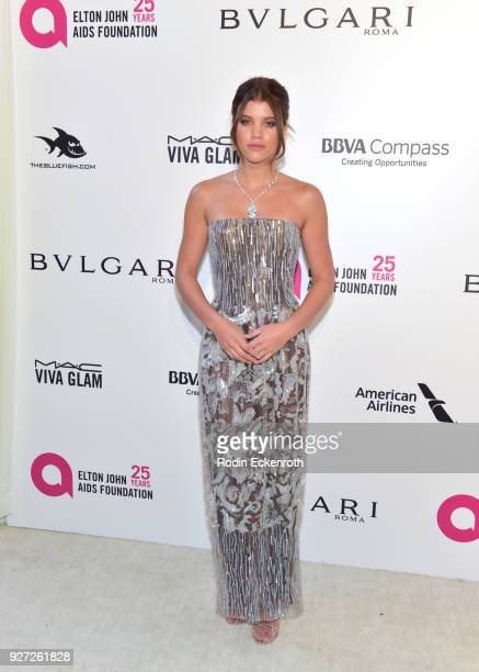 Sofia Richie attends the 26th annual Elton John AIDS Foundation's Academy Awards Viewing Party at The City of West Hollywood Park on March 4 2018 in...