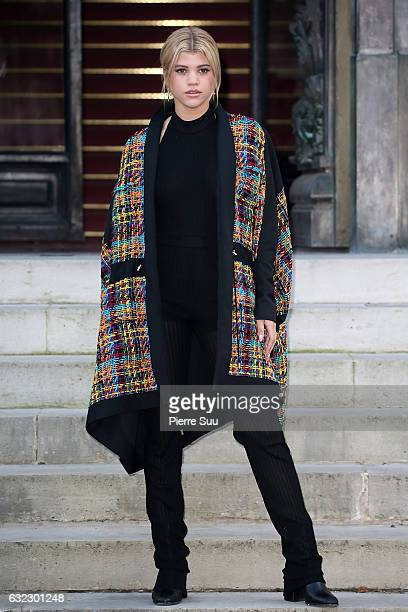 Sofia Richie attends the Balmain Menswear Fall/Winter 20172018 show as part of Paris Fashion Week on January 21 2017 in Paris France