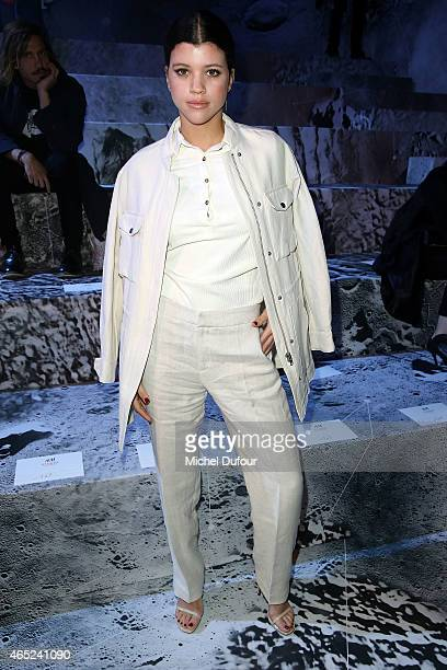 Sofia Richie attends the HM show as part of the Paris Fashion Week Womenswear Fall/Winter 2015/2016 at Grand Palais on March 4 2015 in Paris France