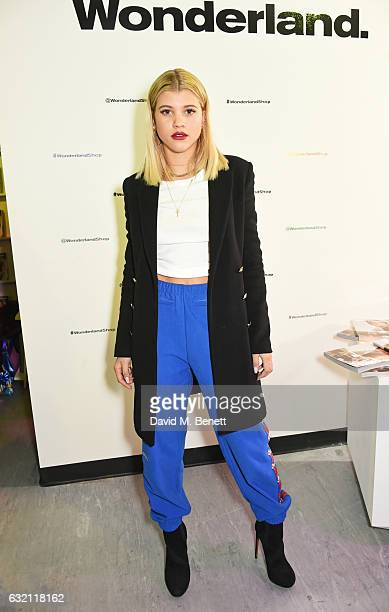 Sofia Richie attends the launch of Wonderland Magazine's popup shop at 192 Piccadilly on January 19 2017 in London England