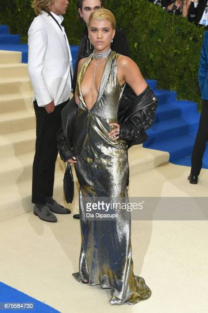 Sofia Richie attends the Rei Kawakubo/Comme des Garcons Art Of The InBetween Costume Institute Gala at Metropolitan Museum of Art on May 1 2017 in...