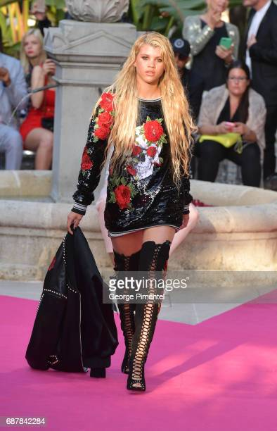 Sofia Richie attends the/walks the runway at the Philipp Plein Cruise Show 2018 during the 70th annual Cannes Film Festival at on May 24 2017 in...