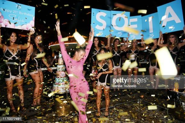 Sofia Richie celebrates her 21st birthday at XS Nightclub at Wynn Las Vegas on August 24 2019 in Las Vegas Nevada