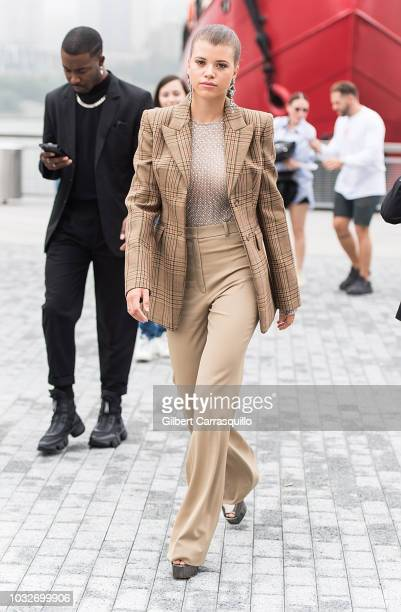 Sofia Richie is seen arriving to Michael Kors Collection SS19 fashion show during New York Fashion Week at Pier 17 on September 12 2018 in New York...