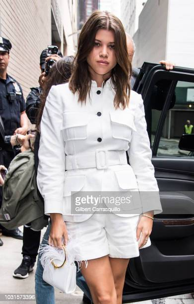 7c11d34f6b1 Sofia Richie is seen arriving to Oscar De La Renta SS19 Fashion Show during  New York