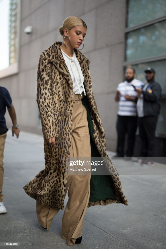 Sofia Richie is seen attending Oscar de la Renta during New York Fashion Week wearing a fur coat on September 11, 2017 in New York City.