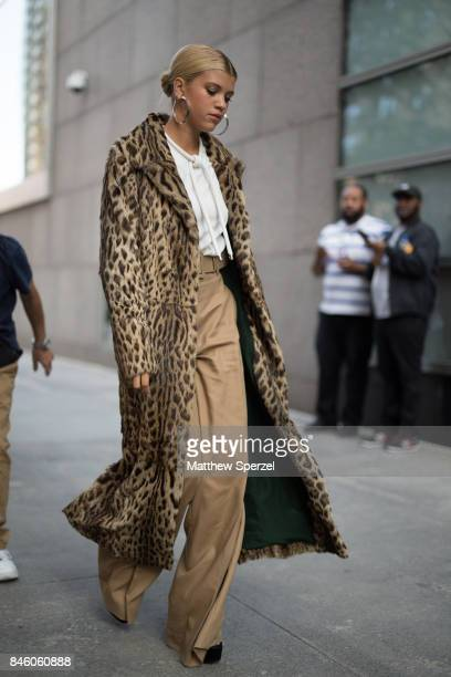 Sofia Richie is seen attending Oscar de la Renta during New York Fashion Week wearing a fur coat on September 11 2017 in New York City