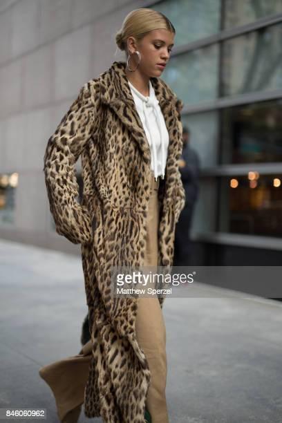 Sofia Richie is seen attending Oscar de la Renta during New York Fashion Week wearing a fur coat on September 11 2017 in New York City