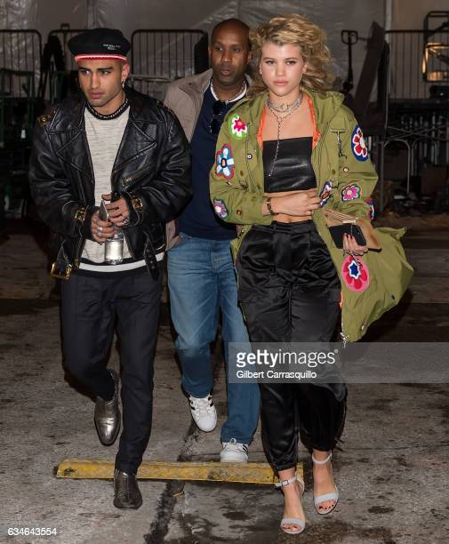 Sofia Richie is seen leaving the Jeremy Scott collection during, New York Fashion Week: The Shows at Gallery 1, Skylight Clarkson Sq on February 10,...