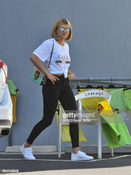 Sofia Richie is seen on December 16 2017 in Los Angeles California