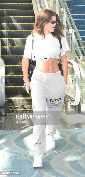 Sofia Richie is seen upon arrival at Haneda Airport on July 31, 2018 in Tokyo, Japan.
