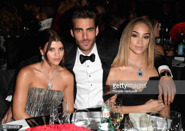 Sofia Richie Jon Kortajarena and Jasmine Sanders attend Elton John AIDS Foundation 26th Annual Academy Awards Viewing Party at The City of West...