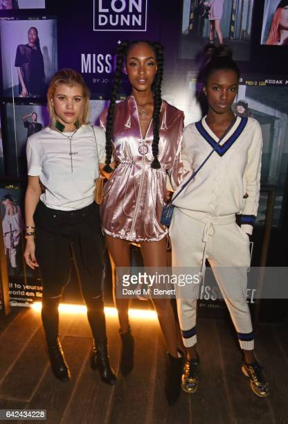 Sofia Richie Jourdan Dunn and Leomie Anderson attend the Lon Dunn Missguided launch event hosted by Jourdan Dunn at The London EDITION on February 17...