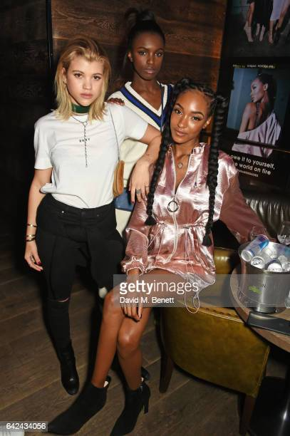 Sofia Richie Leomie Anderson and Jourdan Dunn attend the Lon Dunn Missguided launch event hosted by Jourdan Dunn at The London EDITION on February 17...