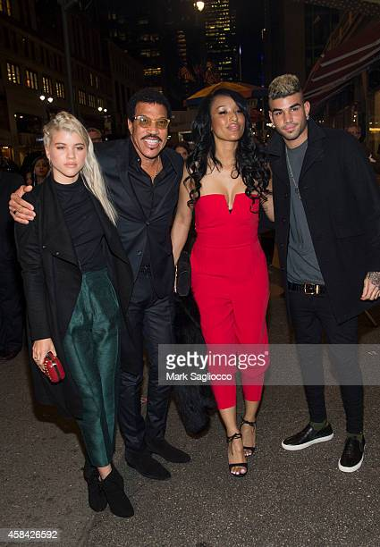 Sofia Richie Lionel Richie Lisa Parigi and Miles Richie attend the Topshop Topman New York City Flagship Opening Dinner at Grand Central Terminal on...