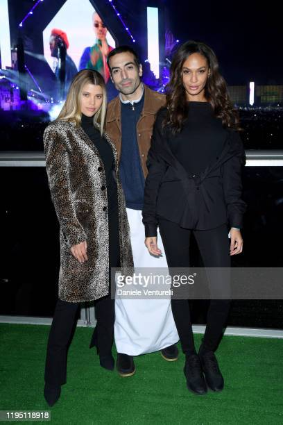 Sofia Richie Mohammed Al Turki and Joan Smalls attend the MDL Beast Festival on December 20 2019 in Riyadh Saudi Arabia