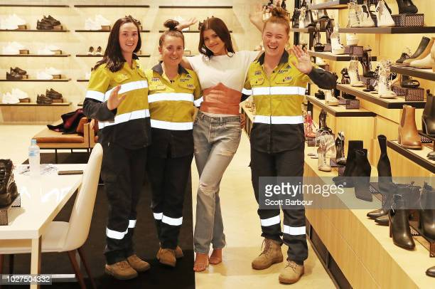 Sofia Richie poses with fans as she attends a store appearance at Windsor Smith at Chadstone Shopping Centre on September 6 2018 in Melbourne...