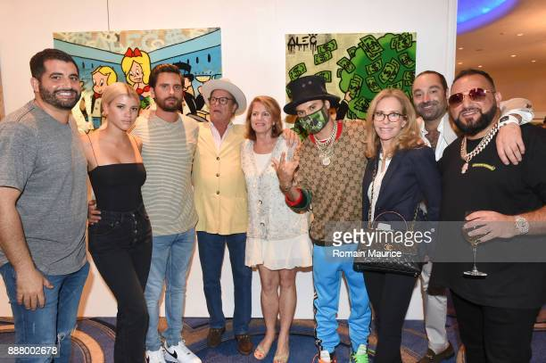 Sofia Richie Scott Disick Alec Monopoly Alexandra Andon Avery Andon David Einhorn and guests attend Haute Living's VIP PopUp Opening Of Alec Monopoly...