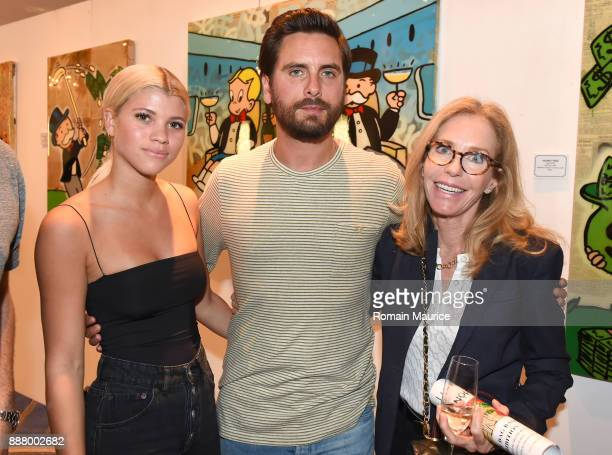 Sofia Richie Scott Disick and Alexandra Andon attend Haute Living's VIP PopUp Opening Of Alec Monopoly From Art Life And David Yarrow From Maddox...