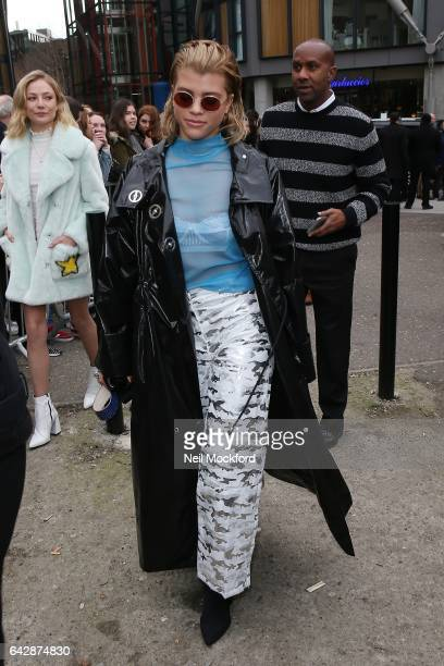 Sofia Richie seen at Topshop Unique at Tate Modern on Day 3 of London Fashion Week February 2017 on February 19 2017 in London England