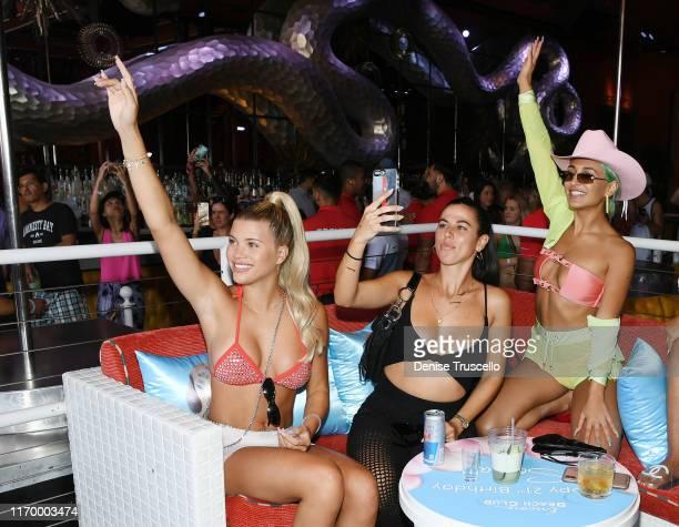Sofia Richie Victoria Villarroel and Amber Asaly celebrate Sofia Richie's 21st birthday at Encore Beach Club At Wynn Las Vegas on August 24 2019 in...