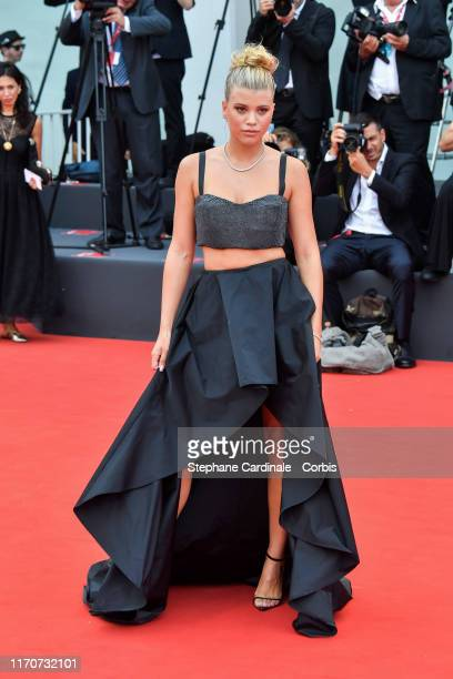 Sofia Richie walks the red carpet ahead of the opening ceremony during the 76th Venice Film Festival at Sala Casino on August 28, 2019 in Venice,...