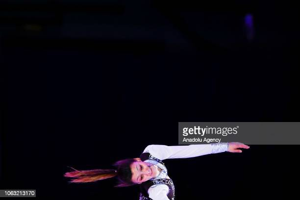 Sofia Samodurova of Russia performs during the Gala exhibition of the ISU GP Rostelecom Cup 2018 at the Megasport Arena in Moscow Russia on November...