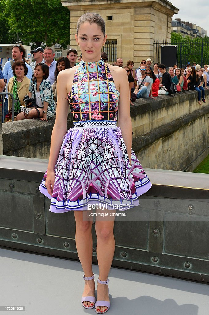 Sofia Sanchez attends the Christian Dior show as part of Paris Fashion Week Haute-Couture Fall/Winter 2013-2014 at on July 1, 2013 in Paris, France.