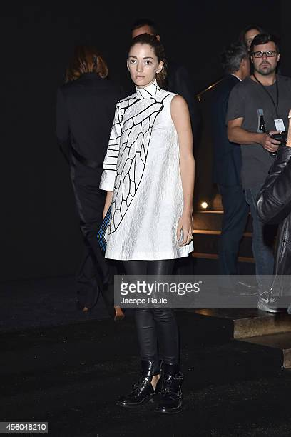 Sofia Sanchez Barrenechea arrives at Balenciaga Show during Paris Fashion Week Womenswear SS 2015 on September 24 2014 in Paris France