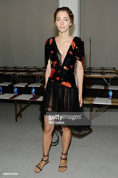 Sofia Sanchez Barrenechea attends Rodarte Spring 2016 during New York Fashion Week at Center 548 on September 15 2015 in New York City