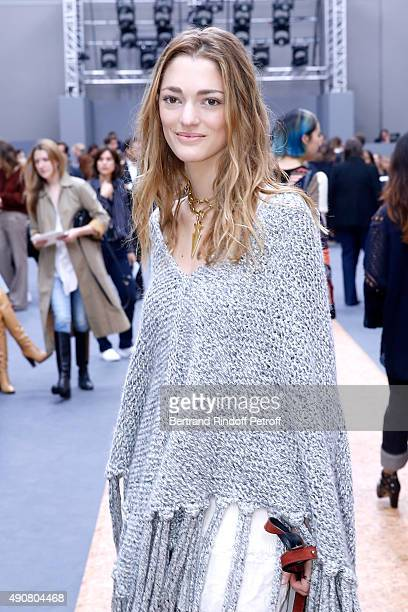 Sofia Sanchez Barrenechea attends the Chloe show as part of the Paris Fashion Week Womenswear Spring/Summer 2016 Held at Grand Palais on October 1...