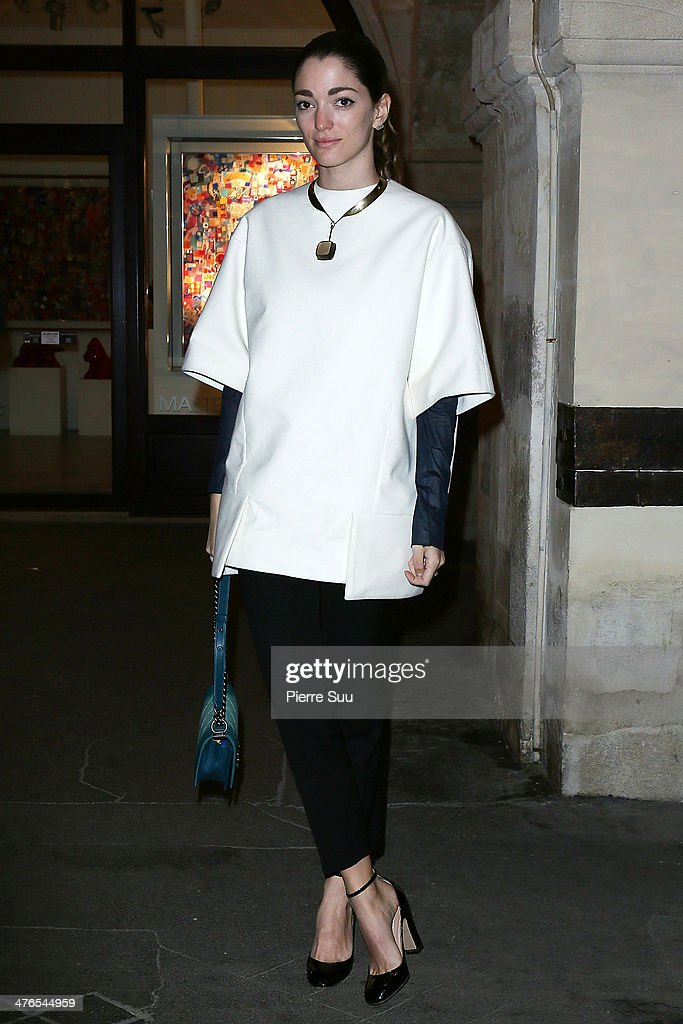 Launch OF D'NA On Farfetch - Cocktail : Outside Arrivals - Paris Fashion Week Womenswear Fall/Winter 2014-2015