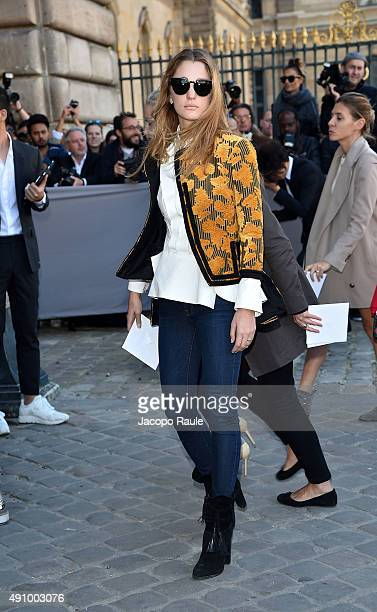 Sofia Sanchez Barrenechea is arriving at Dior Fashion Show during the Paris Fashion Week S/S 2016 Day 4 on October 2 2015 in Paris France