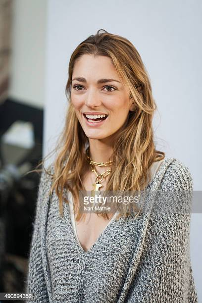 Sofia Sanchez De Batak poses prior the Chloe show as part of the Paris Fashion Week Womenswear Spring/Summer2016 on October 1 2015 in Paris France