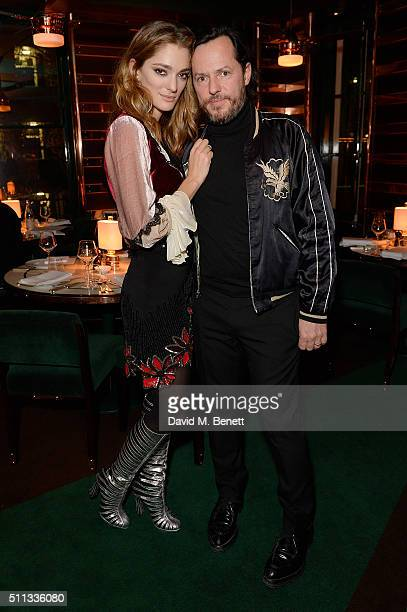Sofia Sanchez de Betak and Alexandre de Betak attend a dinner hosted by The Luxury Collection Hotels Resorts and GlobeTrotter to celebrate the launch...