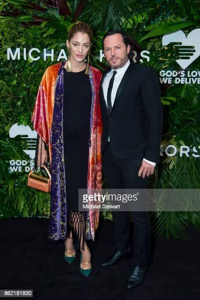 Sofia Sanchez de Betak and Alexandre de Betak attend the 11th Annual God's Love We Deliver Golden Heart Awards at Spring Studios on October 16 2017...