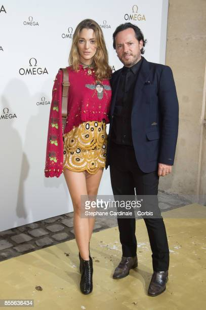 Sofia Sanchez de Betak and Alexandre de Betak attend the 'Her Time' Omega Photocall as part of the Paris Fashion Week Womenswear Spring/Summer 2018...