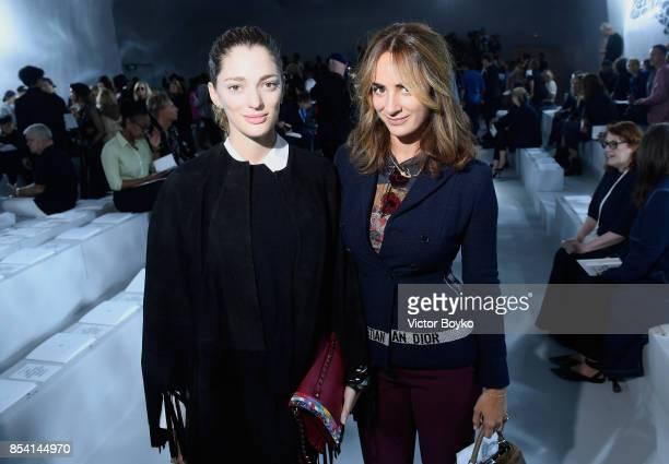 Sofia Sanchez de Betak and Alexia Niedzelski attend the Christian Dior show as part of the Paris Fashion Week Womenswear Spring/Summer 2018 on...