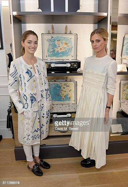 Sofia Sanchez De Betak and Laura Bailey attend The Luxury Collection Hotels Resorts and GlobeTrotter event to Celebrate a Unique Luggage Collection...