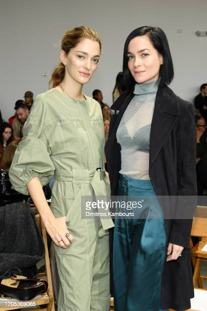 Sofia Sanchez de Betak and Leigh Lezark attend the Jonathan Simkhai front row during New York Fashion Week: The Shows at Gallery I at Spring Studios...