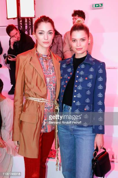 Sofia Sanchez de Betak and Pixie Geldof attend the Chloe show as part of the Paris Fashion Week Womenswear Fall/Winter 2019/2020 on February 28 2019...