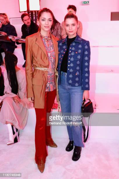Sofia Sanchez de Betak and Pixie Geldof attend the Chloe show as part of the Paris Fashion Week Womenswear Fall/Winter 2019/2020 on February 28 2019...