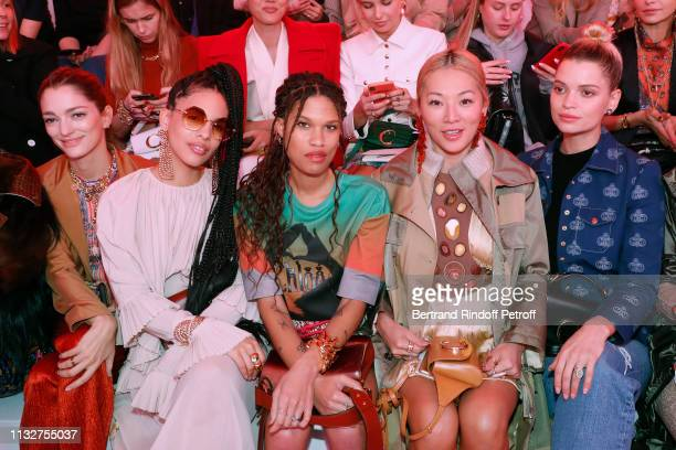 Sofia Sanchez de Betak Annie Sama McKenzie Gill Bryant Tina Leung and Pixie Geldof attends the Chloe show as part of the Paris Fashion Week...
