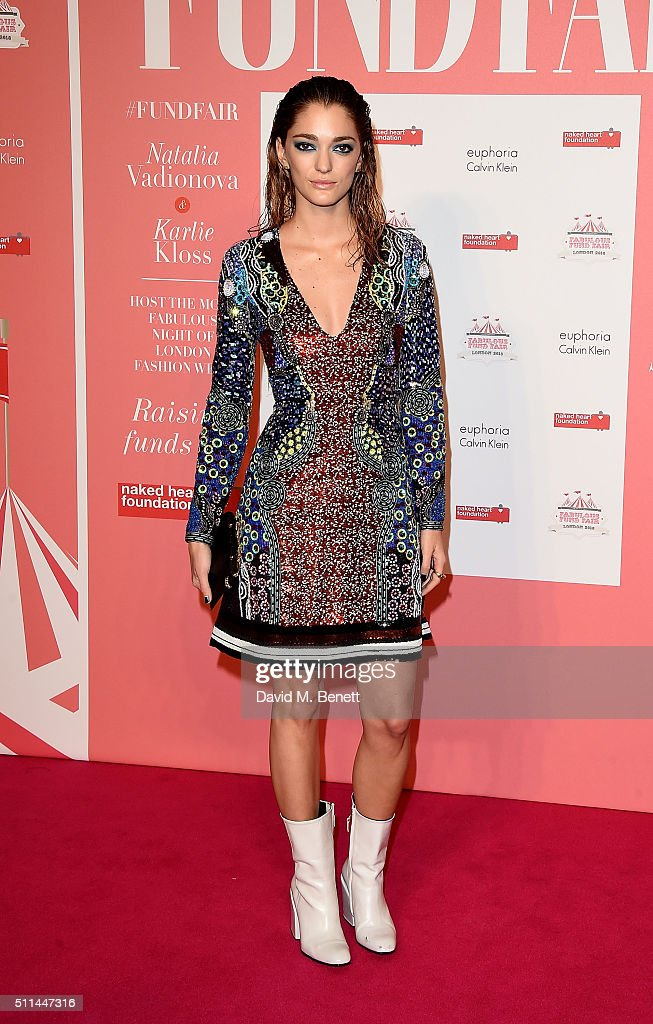 Sofia Sanchez de Betak at The Naked Heart Foundation's Fabulous Fund Fair in London at Old Billingsgate Market on February 20, 2016 in London, England.