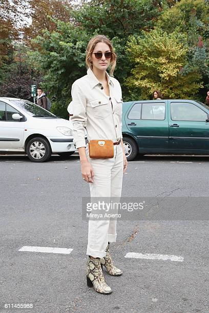 Sofia Sanchez de Betak attends the Chloe show as part of the Paris Fashion Week Womenswear Spring/Summer 2017 on September 29 2016 in Paris France