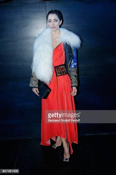 Sofia Sanchez de Betak attends the Christian Dior show as part of the Paris Fashion Week Womenswear Fall/Winter 2017/2018 on March 3 2017 in Paris...